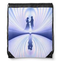 Wedding Couple Drawstring Bag
