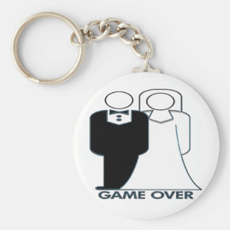 Wedding Couple Game Over Marriage Basic Round Button Keychain