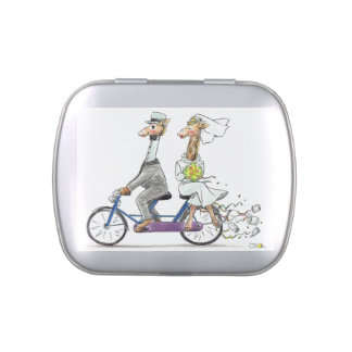 wedding couple giraffes jelly belly candy tin