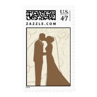 Wedding Couple_Gold by Ceci New York Postage