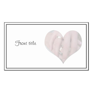 Wedding Couple Hands Together in Heart Business Card Templates