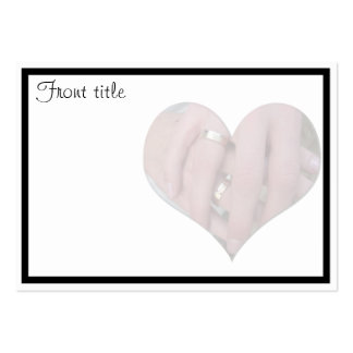 Wedding Couple Hands Together in Heart Business Card Template
