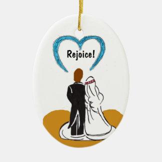 Wedding Couple Heart Ornament