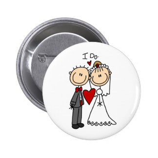 Wedding Couple I Do T-shirts and Gifts Button