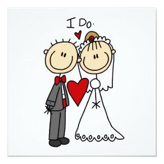 Wedding Couple I Do T-shirts and Gifts Custom Invitation