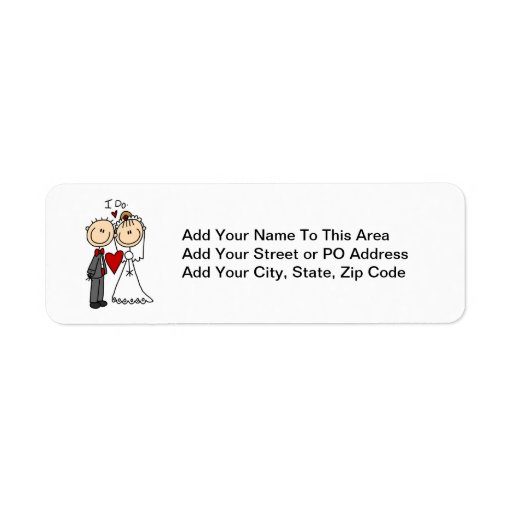 Wedding Couple I Do T-shirts and Gifts Return Address Label
