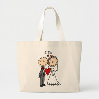 Wedding Couple I Do T-shirts and Gifts Large Tote Bag