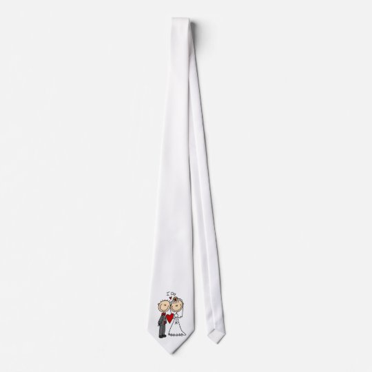 Wedding Couple I Do T-shirts and Gifts Neck Tie