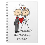 Wedding Couple I Do T-shirts and Gifts Note Books