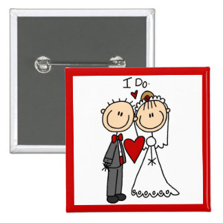 Wedding Couple I Do T-shirts and Gifts Pinback Button