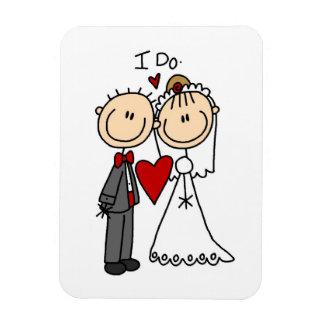 Wedding Couple I Do T-shirts and Gifts Rectangular Photo Magnet