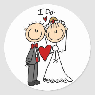 Wedding Couple I Do T-shirts and Gifts Classic Round Sticker