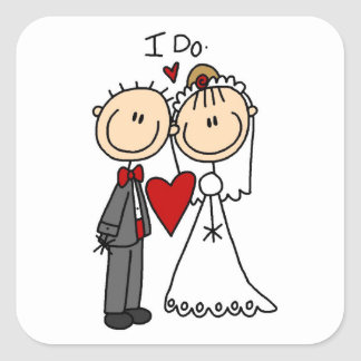 Wedding Couple I Do T-shirts and Gifts Square Sticker
