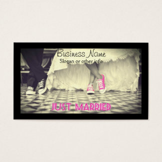 Wedding Couple in a Retro Style Fifties Diner Business Card