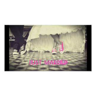 Wedding Couple in a Retro Style Fifties Diner Poster