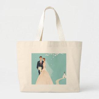 wedding couple jumbo tote bag