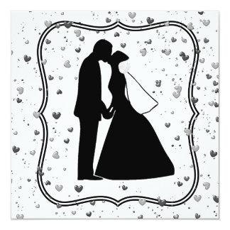 Wedding Couple Kiss Invitation