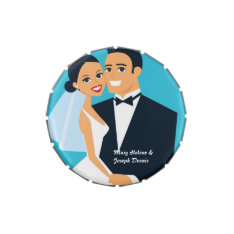 Wedding Couple - Personalized Tin Mints Jelly Belly Tin at Zazzle