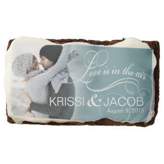 Wedding Couple Photo Bridal Shower | icy blue Brownie