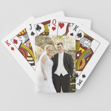 Bride Themed Wedding Couple Playing Cards