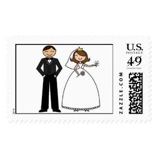 Wedding Couple Postage Stamp