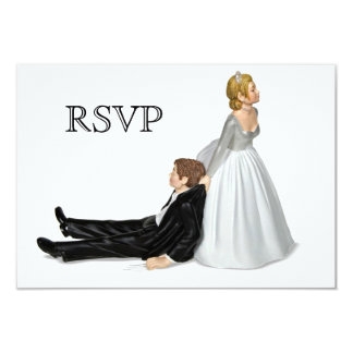 Wedding Couple RSVP Card