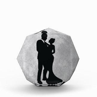 Wedding Couple Silhouette Acrylic Award