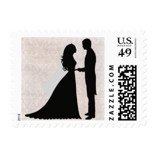 Wedding Couple Silhouette Postage