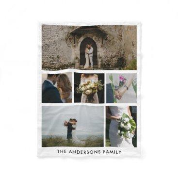 wedding_trends_now Wedding Couple Six Photos   Wedding Gift Fleece Blanket