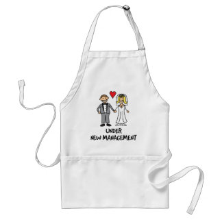 Wedding Couple - Under New Management Adult Apron