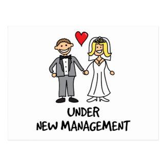 Wedding Couple - Under New Management Postcard