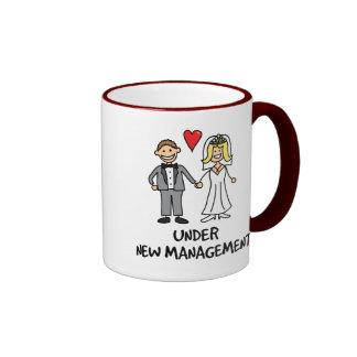 Wedding Couple - Under New Management Ringer Coffee Mug