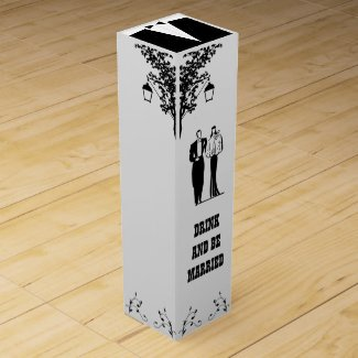 Wedding Couple Wine Box