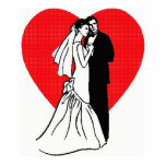 "Wedding Couple with Heart Photo Sculpture<br><div class=""desc"">Couple on their wedding day.</div>"
