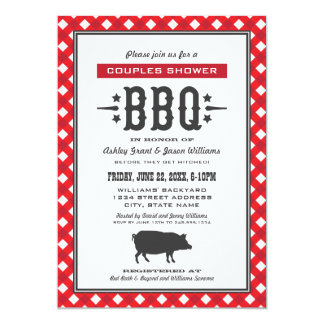 Wedding Couple's Shower | Backyard BBQ Theme 5x7 Paper Invitation Card