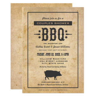 Wedding Couple's Shower | Backyard BBQ Theme Card