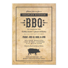 Wedding Couple's Shower | Backyard BBQ Theme 5x7 Paper Invitation Card at Zazzle