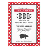 Wedding Couple's Shower | Backyard BBQ Theme Custom Invites