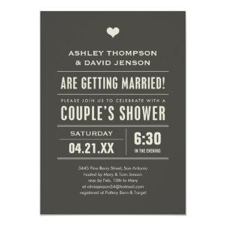Wedding Couples Shower Big Type Invitations
