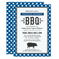 Wedding Couple's Shower | Blue Backyard BBQ Invitation