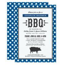 Wedding Couple's Shower | Blue Backyard BBQ Invitation