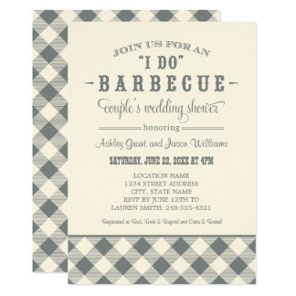 "Wedding Couple's Shower Invitation | ""I Do"" BBQ"