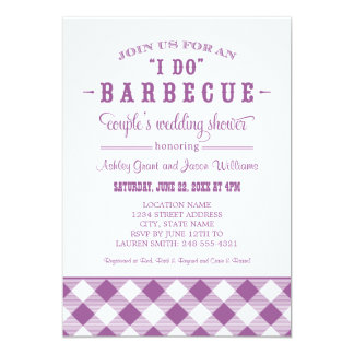 "Wedding Couple's Shower Invitation | ""I Do"" BBQ 5"" X 7"" Invitation Card"