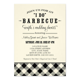 "Wedding Couple's Shower Invitation | ""I Do"" BBQ"