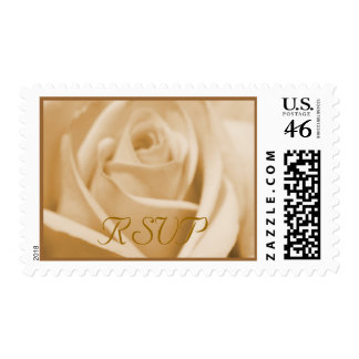 Wedding: Cream and Milk Chocolate - postage stamps