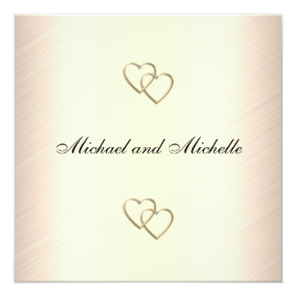 Wedding Cream with Gold Metal Trims 2 Card