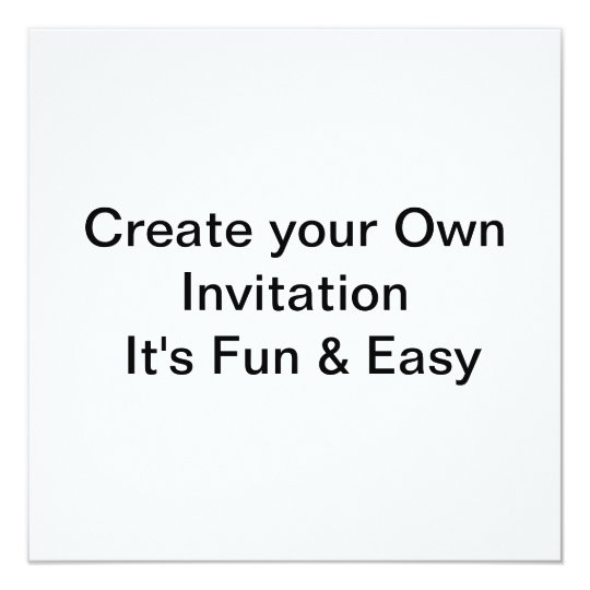 Wedding Create Your Own Invitation
