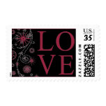 Wedding Creative Love Design Ruby Red Stamps