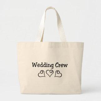 Wedding Crew Black Hearts Canvas Bags