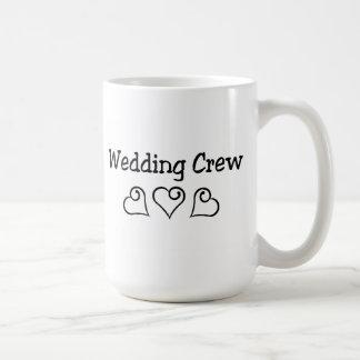 Wedding Crew Black Hearts Coffee Mug